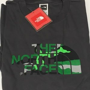 THE NORTH FACE S/S Camo Logo Mens T-Shirt Tee sz L